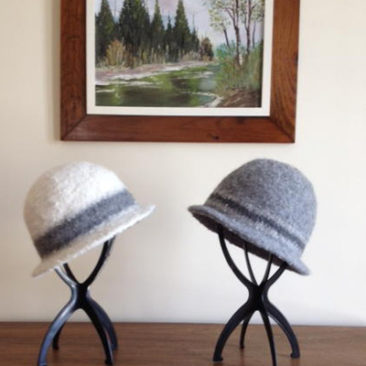 Alpaca felted hats